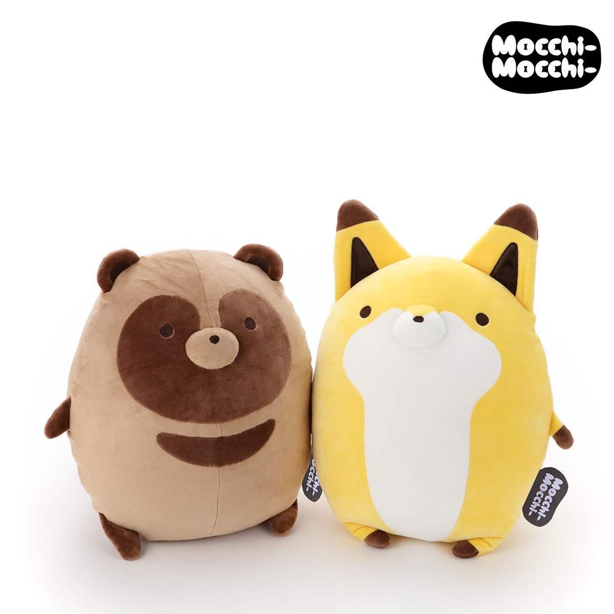 Tanuki and Kitsune Mochi Mochi Takara Tomy Marshmallow Plush