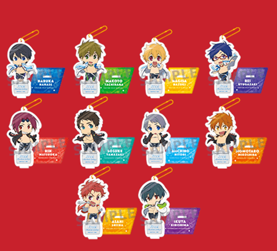 Picture of Free! Timeless Medley Promises Movie Goods Acrylic Charm Stands