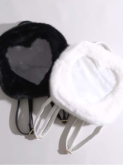 Picture of WEGO Furry 'Ita-bag' Clear Flap Backpack