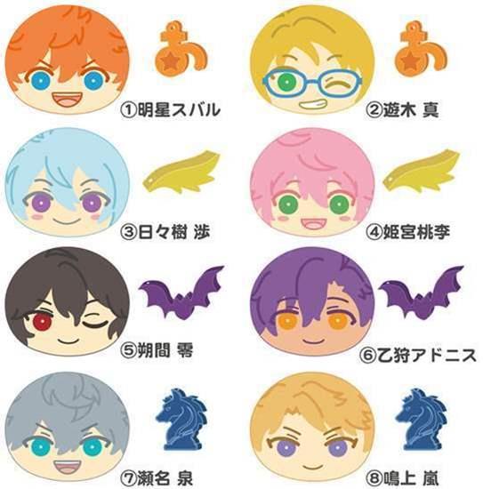 Picture of Ensemble Stars Ensky Niginigi Mascot Manju and Charms Plus 1 SETS