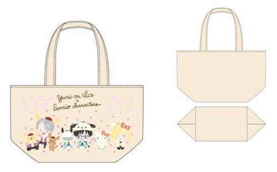 Yuri On Ice Sanrio Characters Spring Festival Tokyu Hands Collaboration  Lunch Tote Bag