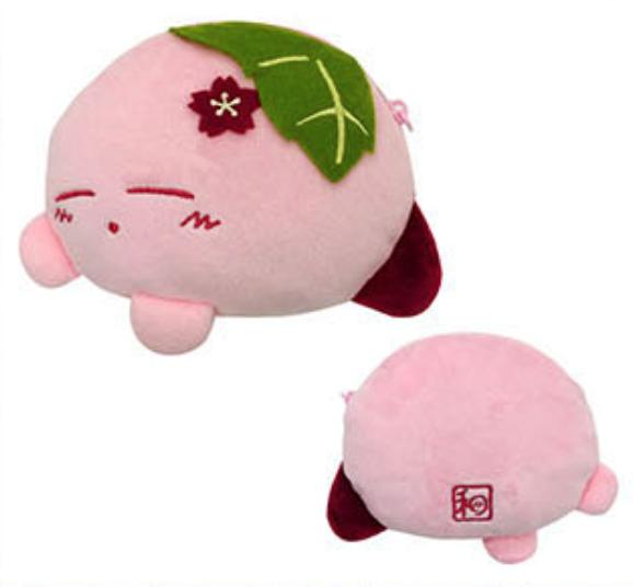 Kirby Fuwafuwa Japanese Style Collection Kirby Ensky Sakura Mochi Plush  Pouch