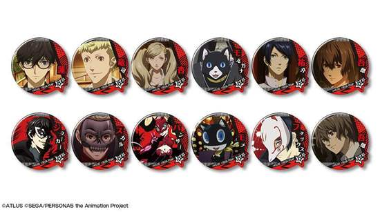 Picture of Persona 5 the Animation Screenshot Can Badges SET