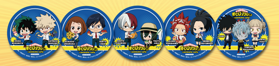 Picture of Boku No Hero Academia Animate Cafe Shop Coasters Character Pairs