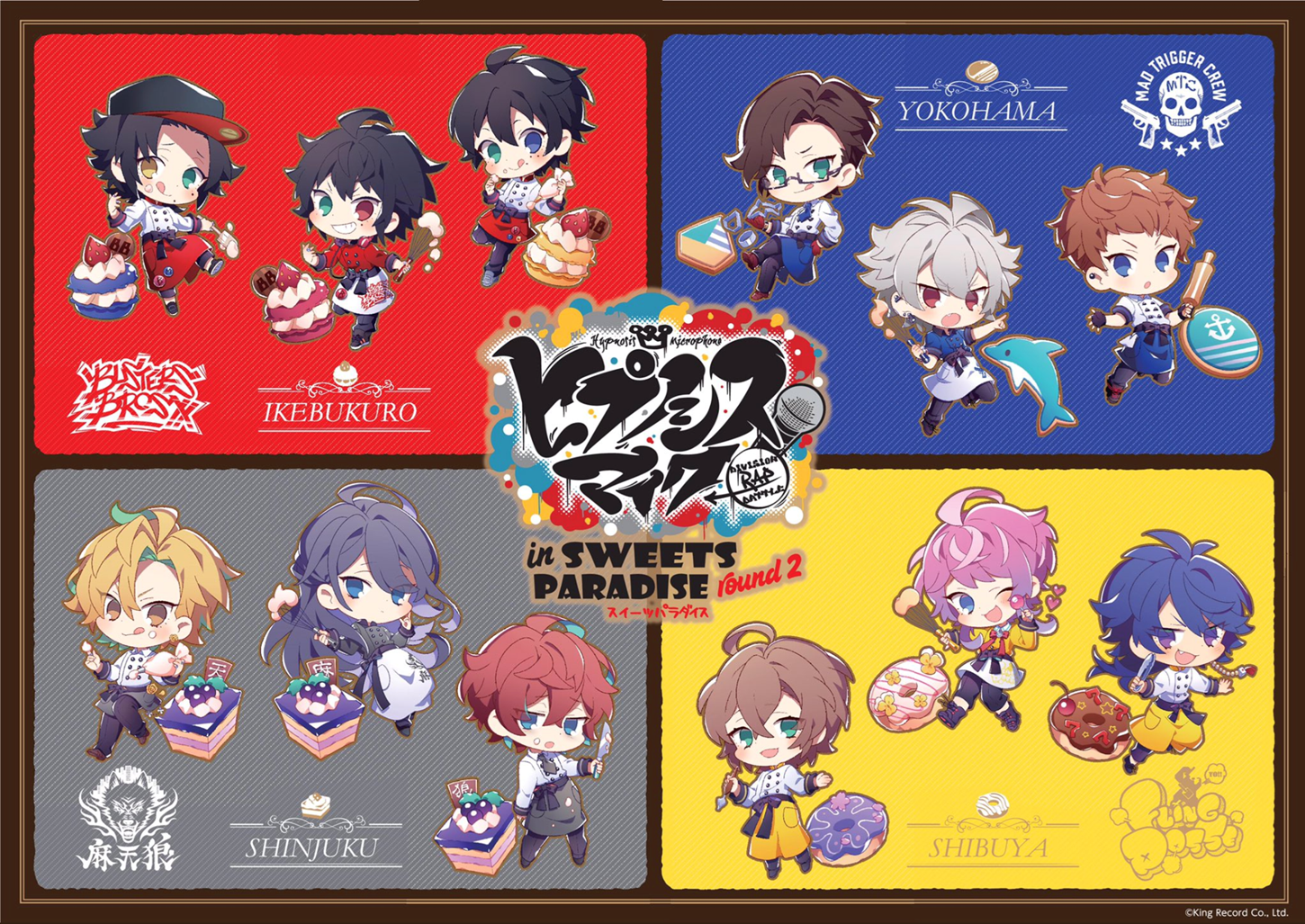 Hypnosis Mic Sweets Paradise Round 2 Collaboration Goods Acrylic Stands  BLIND PACKS