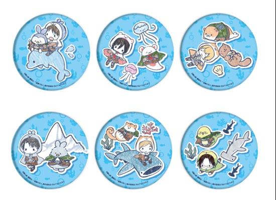 Picture of Shingeki no Kyojin Graffart Collaboration Aquarium Goods Can Badge BLIND PACKS