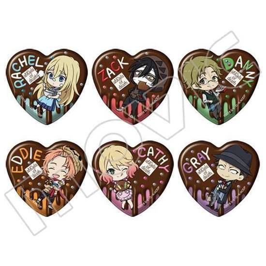 Picture of Satsuriku no Tenshi Animate Can Badge Chocolate Heart Shape SET
