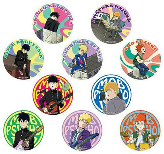 Picture of Mob Psycho 100 II Limited Base Goods Holographic Can Badge BLIND PACKS