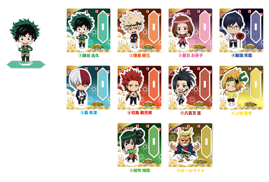 Picture of Boku No Hero Academia Namco Pop-Up Store Goods Season 4 Festival Chibi Acrylic Stands