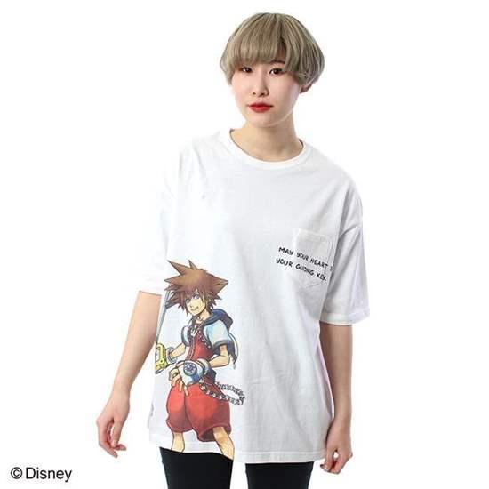 Picture of Kingdom Hearts Pony Comb Brand Sora White T-Shirt