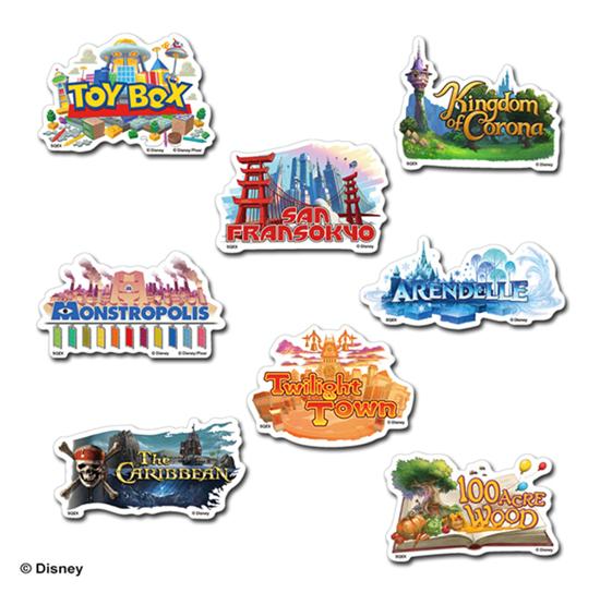 Picture of Kingdom Hearts 3 Square Enix World Title Stickers