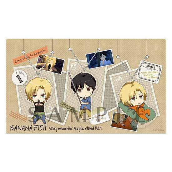 Picture of BANANA FISH AGF 2018 Aniplex Limited Goods Acrylic Charm Set Story Memories Vol. 1 SECOND RESERVATION