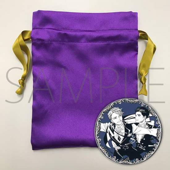 Picture of Yuri On Ice MAPPA Limited Edition Stammi Vicino Drawstring Pouch and Can Badge Victor