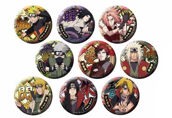 Picture of Naruto Shippuden Brujula Ultra Ninja Dodeka Can Badge BLIND PACKS