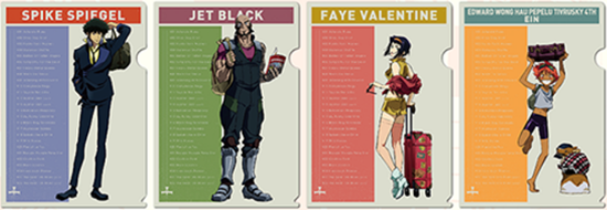 Picture of Cowboy Bebop x The Container Akihabara Store Goods Clear File
