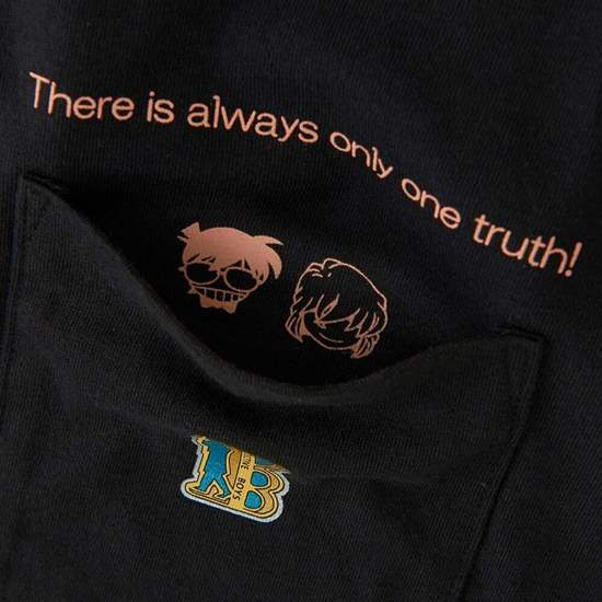 Picture of MANGA UT Uniqlo T-Shirt Detective Conan Black Pocket Design