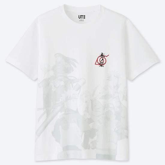 Picture of MANGA UT Uniqlo T-Shirt Naruto White Design