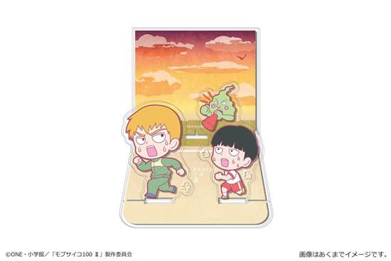 Picture of Mob Psycho 100 II Acrylic Diorama Stand Mob & Reigen & Dimple Training Vol. 2