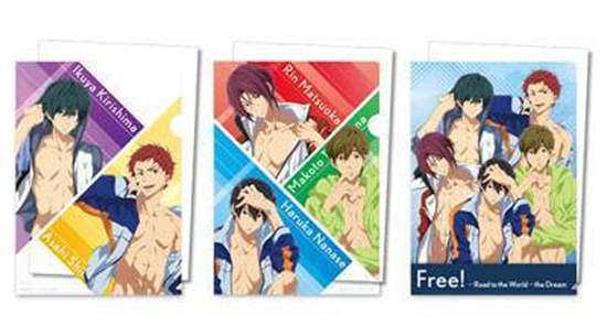 Picture of Free! Road to the World Dreams Movie Lawson Goods Clear File Set