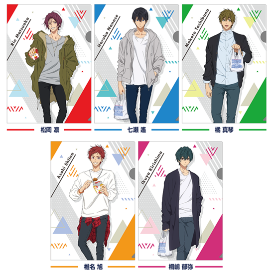 Picture of Free! Road to the World Dreams Movie Lawson Special Clear Files