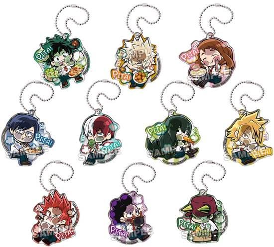 Picture of Boku No Hero Academia Pita Acrylic Keychains Let's Eat SET