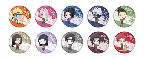 Picture of Shonen Jump x Pierrot 40th Anniversary Special Sega Cafe Goods Can Badges NARUTO BLIND PACKS