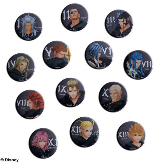 Picture of Kingdom Hearts Organization XIII Can Badge SET SECOND RESERVATION