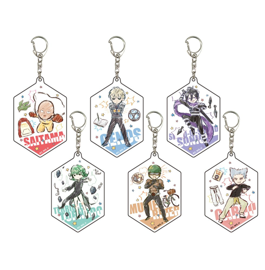 Picture of One Punch Man Graffart Acrylic Keychain BLIND PACKS