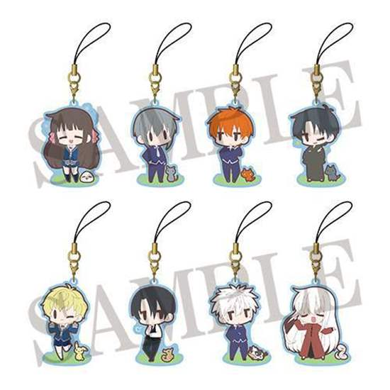 Picture of Fruits Basket Dash Store Collaboration Goods Chibi Rubber Straps BLIND PACKS