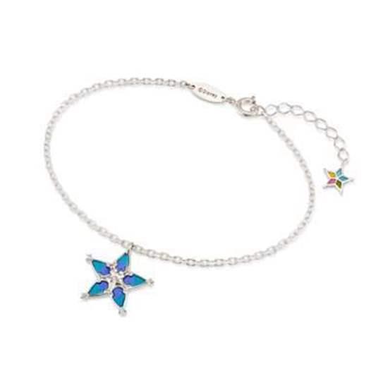 Picture of Kingdom Hearts U Treasure Sterling Silver Aqua Wayfinder Star Bracelet SECOND RESERVATION