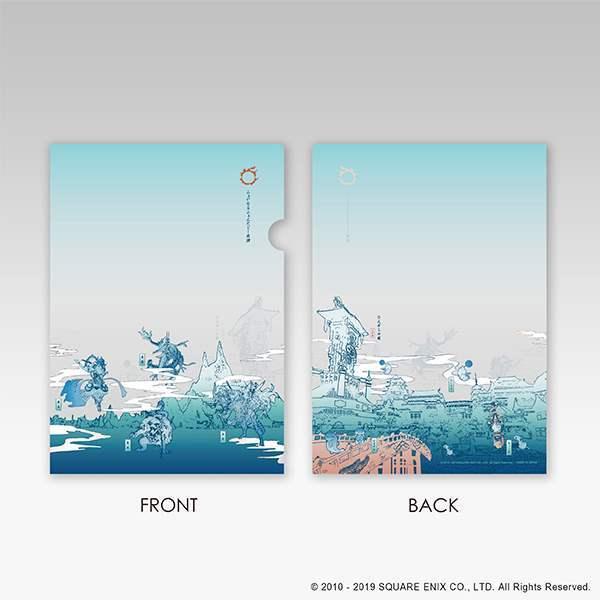 Final Fantasy XIV Online Square Enix Cafe Goods Clear File Light Blue  Version