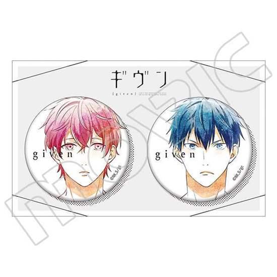 Picture of Given Movic Can Badge Set Mafuyu Sato and Ritsuka Uenoyama Sketch Art Version