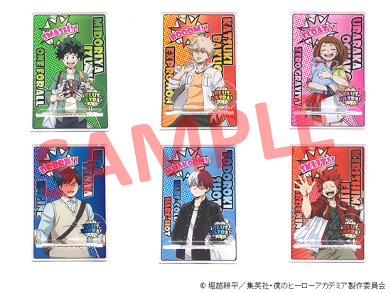 Picture of Boku No Hero Academia Hero Break at Marui Pop-Up Store Goods Acrylic Smartphone Stands