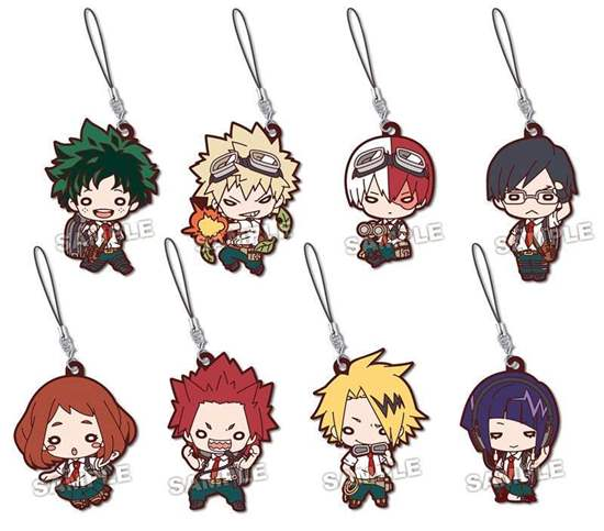 """Picture of Boku No Hero Academia Animate Fair """"Outdoors Training"""" Goods Nitotan Rubber Straps BLIND PACKS"""