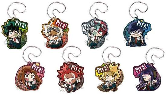 "Picture of Boku No Hero Academia Animate Fair ""Outdoors Training"" Goods Pita Acrylic Keychain SET"