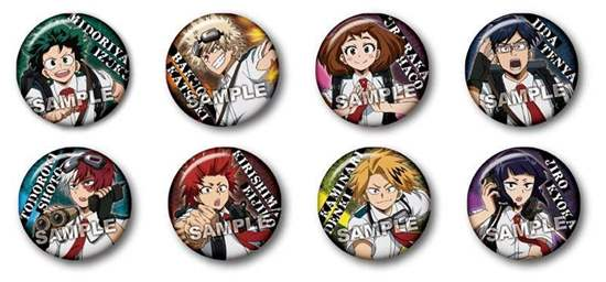 """Picture of Boku No Hero Academia Animate Fair """"Outdoors Training"""" Goods Can Badges SET"""