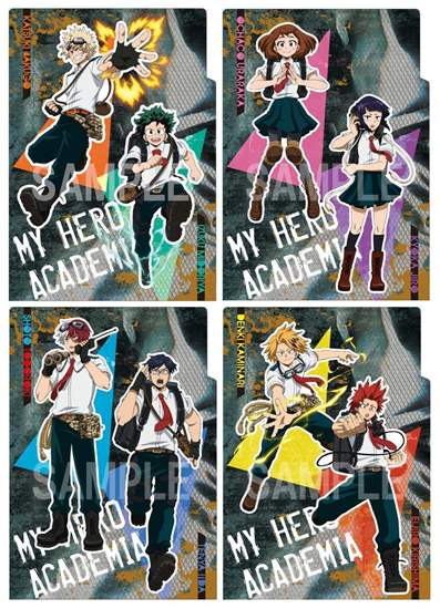 """Picture of Boku No Hero Academia Animate Fair """"Outdoors Training"""" Goods 3 Pocket Clear File"""