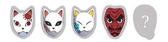 Picture of Kimetsu No Yaiba Ufotable Cafe Online Shop Goods Acrylic Charm Mask BLIND PACKS