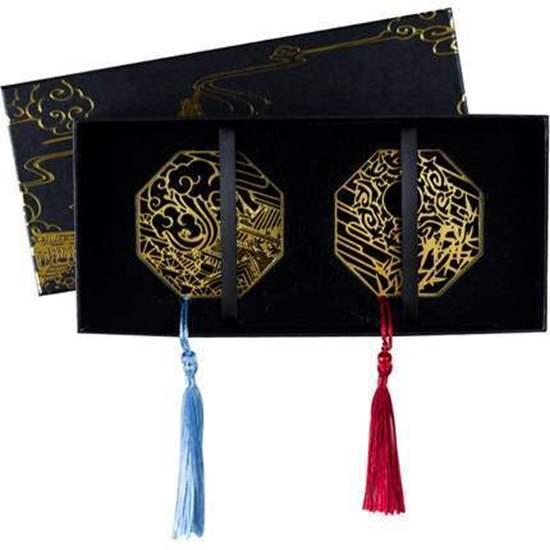 Picture of Mo Dao Zu Shi Monzon Exclusive Official Goods Gold Leaf Round Bookmark SET