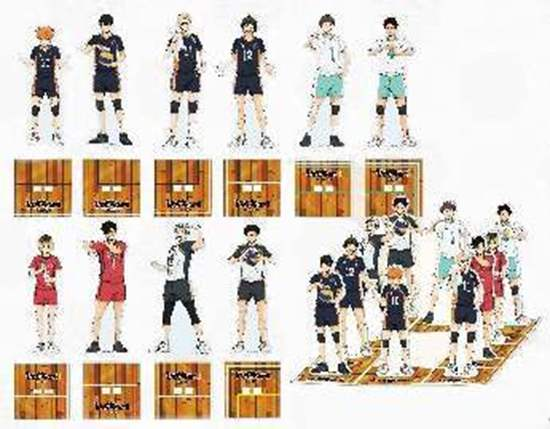 Picture of Haikyuu!! Jump Shop Joint Practice Goods Acrylic Stand