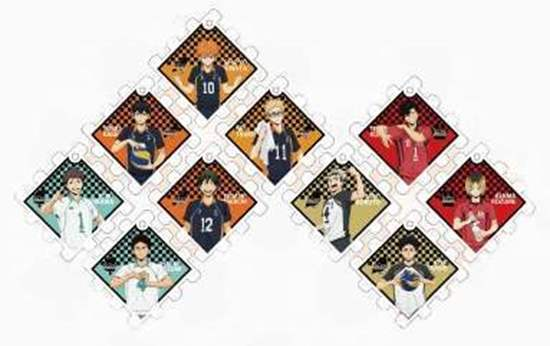 Picture of Haikyuu!! Jump Shop Joint Practice Goods Cube Puzzle Acrylic Keychain BLIND PACKS