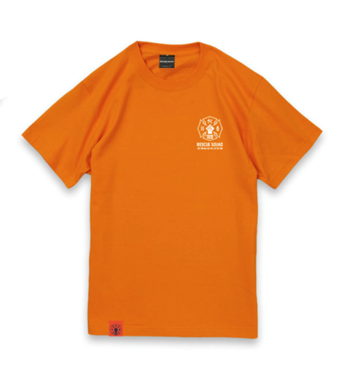 Picture of PROMARE XFlag Store Hikeshi Spirit x Rescue Squad T-Shirt Orange