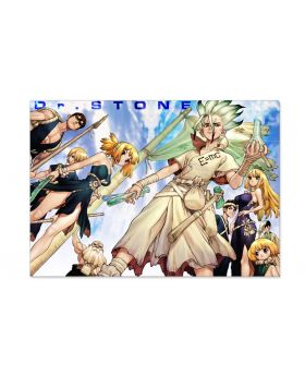 Dr. STONE Jump Shop Double Pocket Clear File