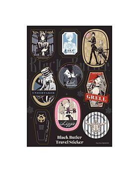 Kuroshitsuji Exhibition Goods Travel Sticker Sheet Rich Black Ver.