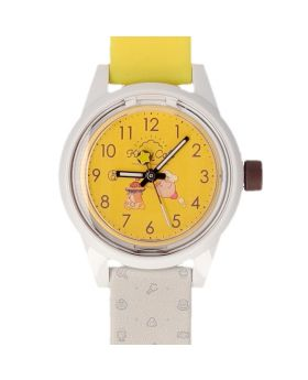 Kirby Cafe Pop-Up Store Q&Q SmileSolar 32-01 Watch Yellow