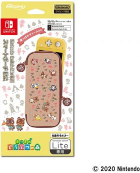 Animal Crossing New Horizons Max Games Official Goods Nintendo Switch Lite EVA Pouch