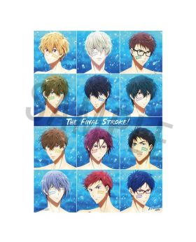 Free! the Final Stroke Movie Goods Passion Vivid Color Special Poster