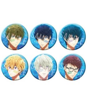 Free! the Final Stroke Movie Goods Passion Can Badge Collection Type A BLIND PACKS