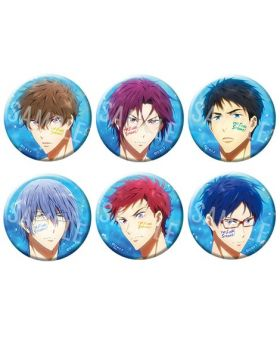 Free! the Final Stroke Movie Goods Passion Can Badge Collection Type B BLIND PACKS