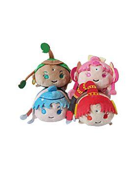 Sailor Moon Store Tsum Mascot Plush Vol. 9 Amazoness Quartet SET